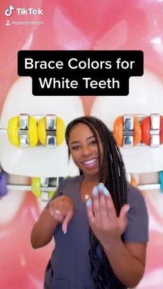 Braces Food, Braces Tips, Dental Braces, Teeth Braces, Dental Care, White Teeth Tips, Cute Braces Colors, Getting Braces, Brace Face