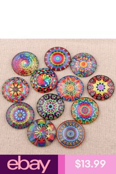 "Set of 10-1/"" Clown Resin Cabochons Domes Crafts DIY Magnets Bracelets Earrings"