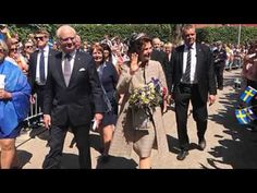 King Carl Gustaf and Queen Silvia in Växjö  - National Day Sweden 2017
