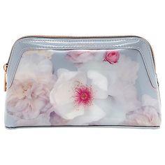 63e94313231 Buy Ted Baker Chelsea Grey Milless Makeup Bag, Light Grey Online at  johnlewis.com
