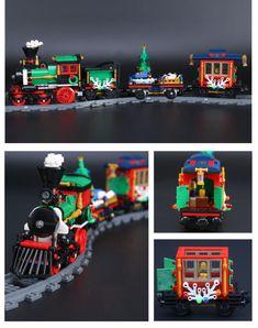 LEPIN 36001 Winter Holiday Train LegoINGlys 10254 Holiday Train, Winter Holidays, Monster Trucks