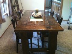 New York home of Sabrina Soto rustic dining table