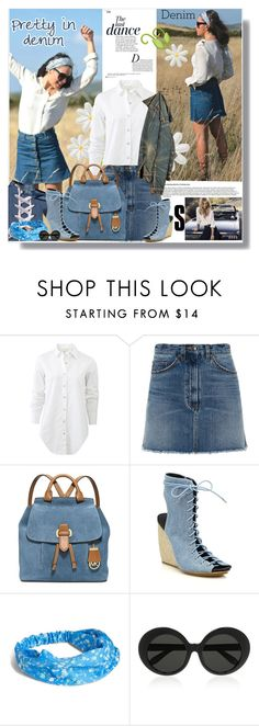 """denim"" by bellamonica ❤ liked on Polyvore featuring Anja, rag & bone, Marc by Marc Jacobs, MICHAEL Michael Kors, Rebecca Minkoff, Vera Bradley, Linda Farrow and denim"