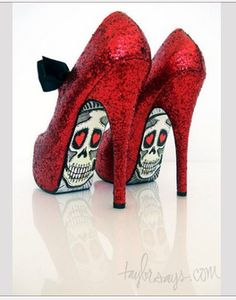 Totally awesome shoes!  I think a decoupage of brightly colored comic book art would look great too!
