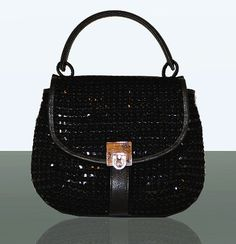 Black Messenger Handbag  MIAETMOI Cross Body Bag by miaetmoi, $112.00