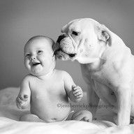 This Baby And Puppy Born On The Same Day Are Basically Brothers - Ivette ivens baby bulldog