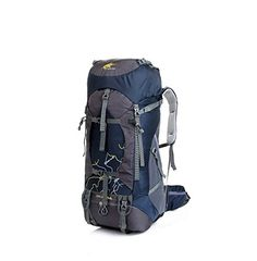 Modovo Waterproof Ultralight Internal Frame Backpack TCS Bearing System for Camping Hiking Mountaineering 75L Navy ** Find out more details by clicking the image : Backpack