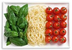 Basilico, Spaghetti e Pomodore.