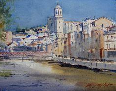 David Taylor - Painting watercolor in Girona - Veopintar