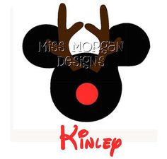 Personalized Reindeer Mickey Mouse Disney iron on by MissMorgan, $7.00
