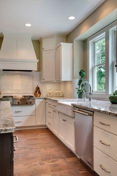 Oversized kitchen island with plenty of room | Luxury Home Tour
