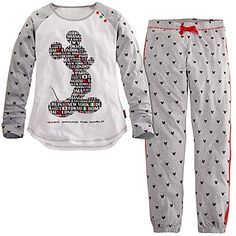 ''Magic Around the World'' Mickey Mouse Pajama Set for Women Cute Pjs, Cute Pajamas, Lazy Day Outfits, Cool Outfits, Mickey Mouse, Cute Sleepwear, Disney Pajamas, Night Suit, Disney Outfits