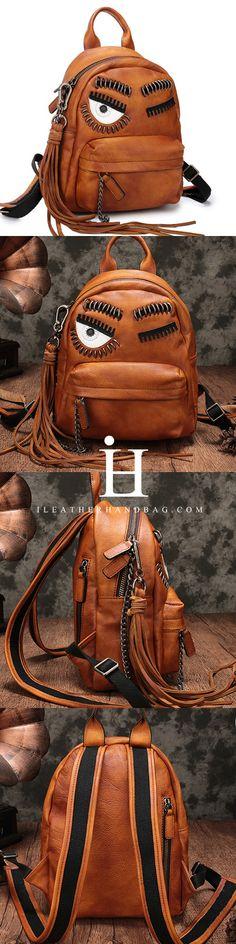 Vintage Leather Purse Cute Backpacks Handbags Shoulder Crossbody Bags