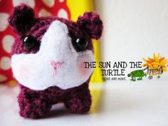 Amigurumi guinea pig free crochet pattern by The Sun and the Turtle #amigurumi #guinea #pig #crochet