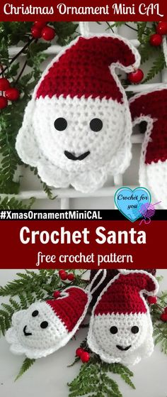 Christmas Ornament Mini CAL - Crochet Santa. #XmasOrnamentMiniCAL