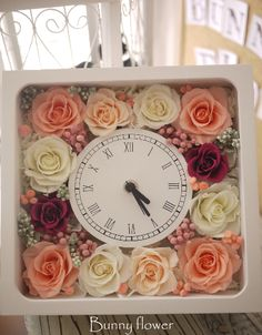 preserved flower | プリザーブドフラワーウエディング花時計 by Bunnnyflower