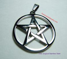 316L Stainless Steel Pentagram Pendant