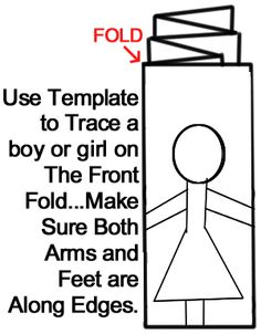 How To Make a Paper Doll Chain - Kids Crafts & Activities Paper Doll Chain, Paper Chains, Paper Dolls, Craft Activities For Kids, Preschool Crafts, Crafts For Kids, Bible Heroes, Paper Cutting Patterns, Bond Paper