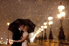 Could this wintry wedding in Paris be any more romantic?