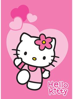 Hello kitty - Tapis Love rose