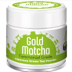Premium Grade Matcha is our best of the best quality and organic Matcha. Each green tea leaf is specially selected and carefully hand-picked by japanese green tea farmers. Organic certified by JAS. Organic Matcha, Green Tea Powder, Granite Stone, Kyoto Japan, Tea Ceremony, Coffee Cans, Healthy, Gold, Health