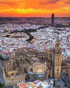 Sevilla Spain, Andalucia Spain, Beautiful Places To Visit, Wonderful Places, Places To Travel, Places To Go, City Landscape, Spain Travel, World Heritage Sites
