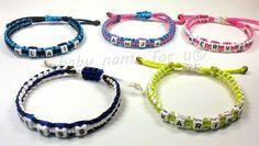 Armband mit Namen geknüpft   von Schnullerkette by baby name for u auf DaWanda.com