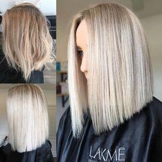 "1,020 Likes, 19 Comments - Hottes Hair (@jamie_hotteshair) on Instagram: ""Blonde Lob Goals boom 3/4 had foils using @lakmecolour k.blonde+10vol toned 10+dash…"""