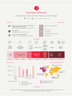 Infographic Resume by Irina Ilaşcu-Rentería, via Behance