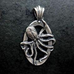 octopus pendant ocean charm silver 14k gold realistic animal jewelry handmade USA best – All Animal Jewelry & Jan David Design Jewelers