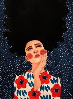 "hülya özdemir : ""no clear mind"" watercolour on paper) Arte Pop, Portrait Art, Woman Portrait, Illustrations And Posters, African Art, Art Pictures, Cute Art, Art Girl, Painting & Drawing"