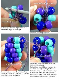 Quite possibly the best bead crochet instructions we've found.