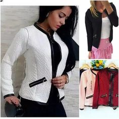 Casaco Feminino Blusa De Frio Jaqueta Outono Inverno Corino Sewing Techniques, Classy Outfits, Dressing, Plus Size, Shorts, Formal, Womens Fashion, Casual, Jackets