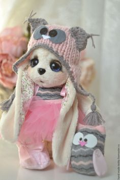 Felt Dolls, Plush Dolls, Doll Toys, Rabbit Toys, Bunny Toys, Crochet Bunny, Crochet Toys, Felt Animals, Cute Baby Animals