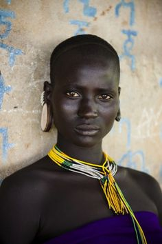 Omo Valley, Ethiopia, A Kara woman in the Omo Valley