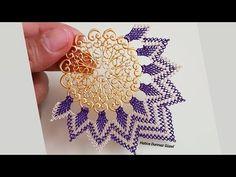 Needlework Foulard Making - Handmade That Needle Lace, Hand Embroidery Patterns, New Model, Beautiful Models, Needlework, Beads, Make It Yourself, Handmade, Jewelry