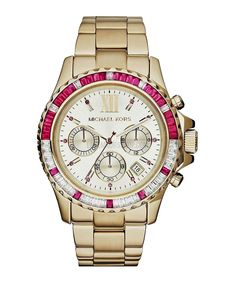 Everest gold-tone & crystal watch - Michael Kors