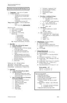 Checklist Newborn Physical Exam Template