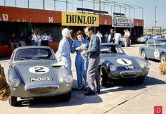Stirling & Pat Moss & Sebring Sprites Sebring 1961 (www.barcboys.com). Dit is rond het moment dat broer en zus ruzie krijgen over wie de beste auto krijgt. Sprinzel beslecht de keuze