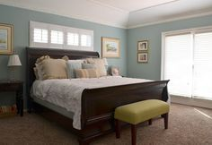 Paint: Gray Morning, Behr; bed: Weir's Furniture; side tables: Cost Plus World Market