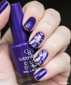 nail chow_mama golden rose color expert 41 stamping lesly ls 123