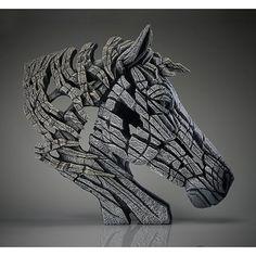 EDGE SCULPTURE - Pferd weiß