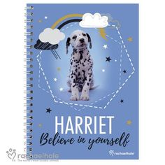 Personalised Rachael Hale A5 Notebook -Dalmatian
