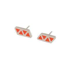 Triangle+quatre+stud+earrings, £58.00