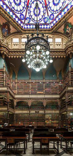 Royal Portuguese Library's Reading Room, Rio de Janeiro, Brazil