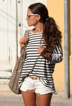 Zara  Camisetas, Zara  Pantalones cortos and H  Bolsos