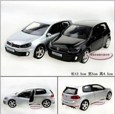 Candice guo alloy car model Yufeng mini cool 1:36 mini volkswagen Golf GTI plastic motor toy birthday gift christmas present 1pc
