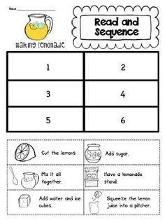 Sarah's First Grade Snippets: Read and Sequence (unit makeover and a lemonade freebie)
