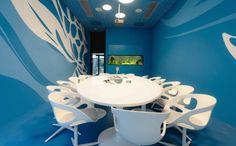 Sala reunião, escritório Microsoft.