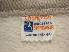 Champion Brand, Colorado University Lettered Sweatshirts, 1950's Vintage Tags, Vintage Wear, Vintage Labels, Champion Brand, Harley Davidson, Sportswear, Colorado, University, Lettering